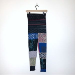 Free People Patchwork Sweater Knit Legging Small